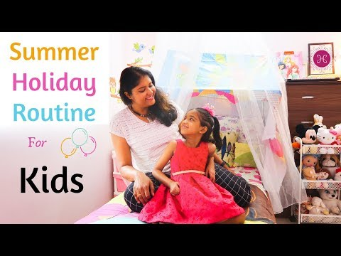 How To Plan Kids Summer Holiday Routine / Activities For Kids / Home HashTag Life