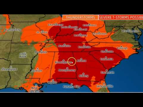 Strong Tornadoes Expected: Dangerous Severe Weather Outbreak In Southeast, Ohio Valley