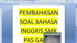 SOAL UAS/ PAS KELAS XI BAHASA INGGRIS SM GANJIL SMK