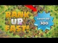 Top 7 Ways To Rank Up FAST In Clash of Clans! 3,000+ XP PER HOUR!!