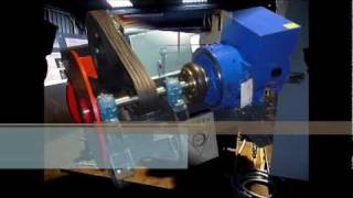 Hydroelectric turbogenerator on test bench