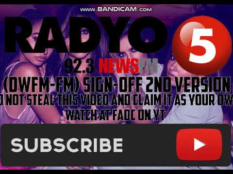 (DWFM-FM) RADYO5 92.3 NEWS FM SIGN-OFF (2nd Version)