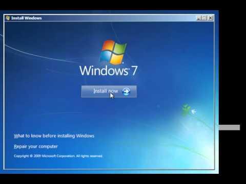 Hướng dẫn cách cài Windows 7