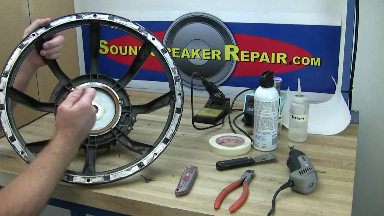 How to recone and repair a speaker or woofer with a Pro Parts recone kit