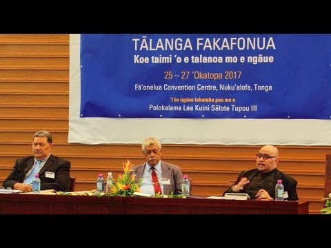 Talanga Fakafonua - Panel 3: Government Institutions - National Dialogue Symposium - Massey Uni