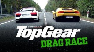 Drag Race TopGear Polska: Audi R8 V10 vs Lamborghini Huracan