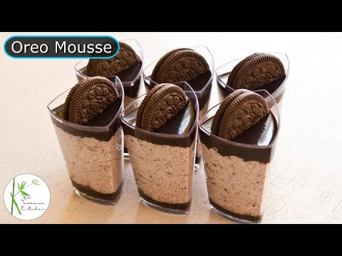 Quick Oreo Mousse Recipe | Eggless Chocolate Oreo Mousse Recipe ~ The Terrace Kitchen