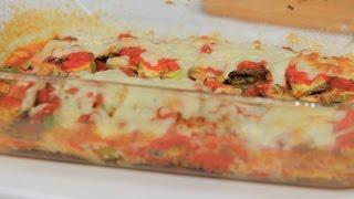 باذنجان وكوسة بالجبنة الموتزاريلا والطماطم | نجلاء الشرشابي