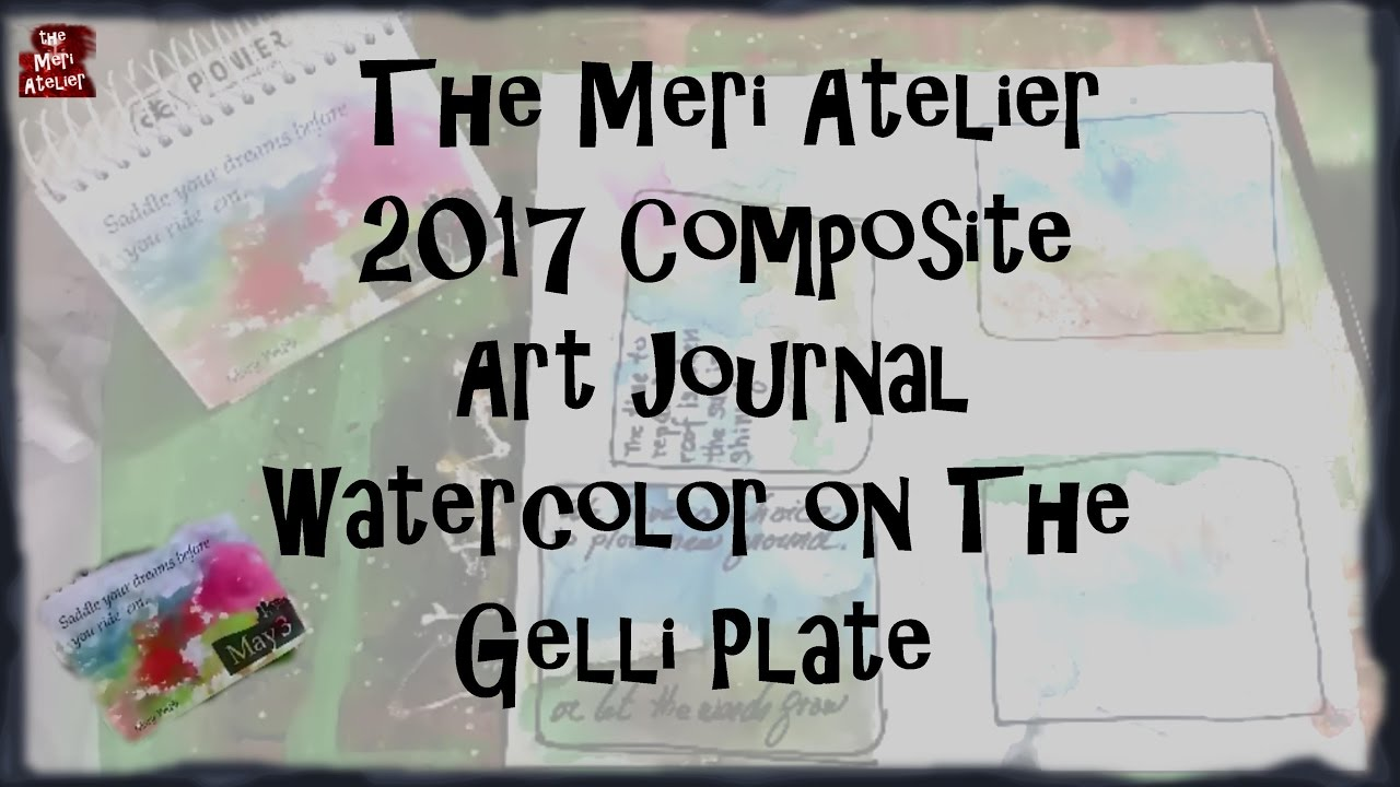 Quotes Journal Watercolor Gelli Print In Quotes Art Journal  Youtube