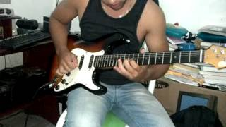 HammerFall - Keep The Flame Burning(Guitar solo cover)