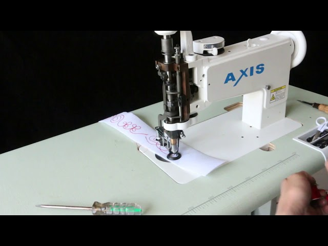 Axis 1114-10  Handle Operated  Multi-function Vintage Embroidery Machine  Universal Feed Designs