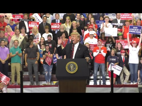 President Trump in Springfield, MO