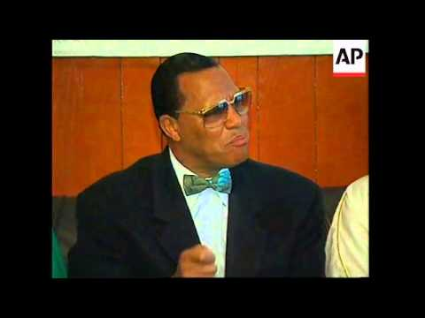 RUSSIA: MOSCOW: US MUSLIM LEADER LOUIS FARRAKHAN VISIT