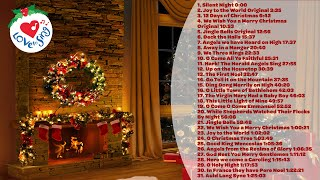 Top 31 Christmas Songs and Carols Music Playlist with a Fireplace 🎄
