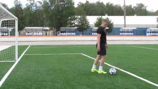 Обучение футболу. Удар пяткой