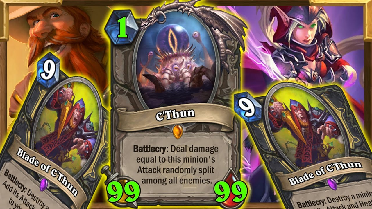 C'Thun Rogue | Literally None. Christian: I Don't Go Face, This Is An OTK DECK Guys... | Hearthstone