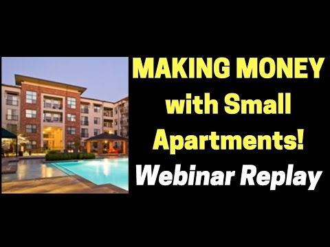 How to Buy Your FIRST Multi Family Small Apartment Building WEBINAR REPLAY