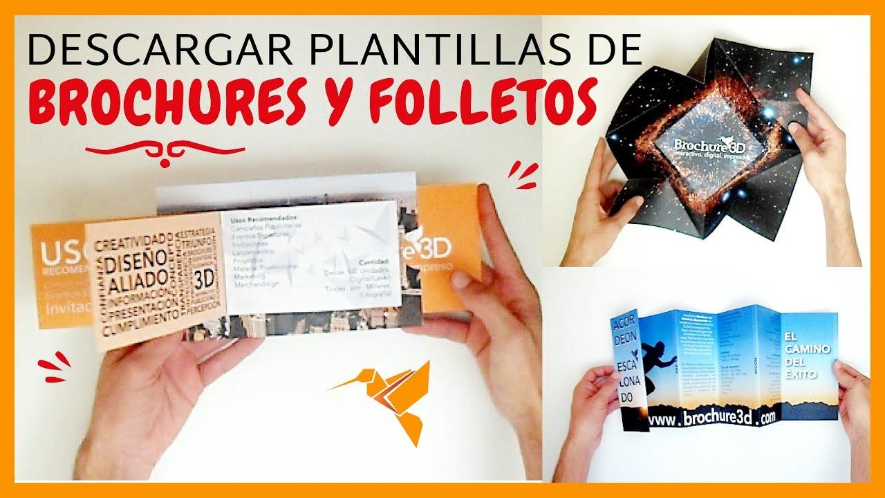 CÓMO DESCARGAR las mejores plantillas de Brochures y Folletos - YouTube