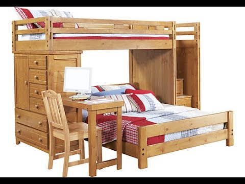 Twin Over Full Bunk Bed With Desk Youtube