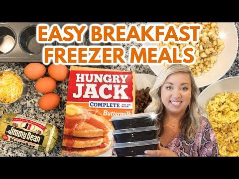 EASY BREAKFAST FREEZER IDEAS | QUICK AND TASTY BREAKFAST | ON THE GO BREAKFAST | JESSICA O'DONOHUE