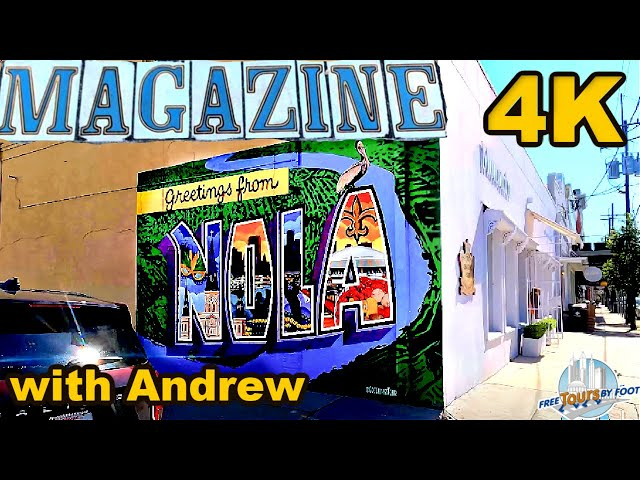 4K Walk along New Orleans' Magazine Street (w/ Surround Sound)