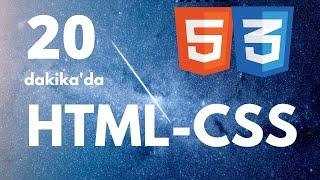 20 dakikada SIFIRDAN HTML-CSS