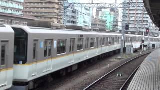 近鉄シリーズ21快速急行 長い10両編成 阪神尼崎車庫から出庫