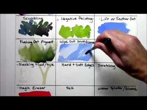 Watercolor Techniques for Beginners REMAKE part 2 of 4 - YouTube