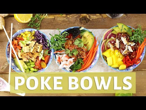 BEST DIY POKE BOWL 3 WAYS | How to Make a Poke Bowl