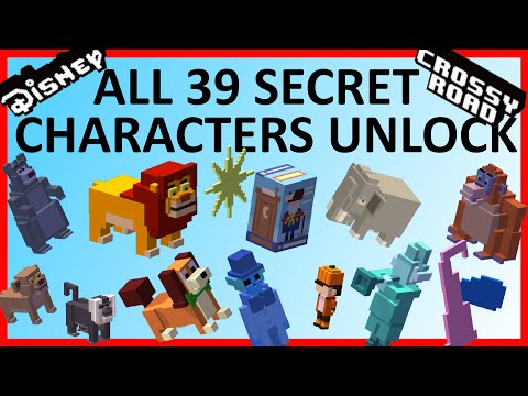 DISNEY CROSSY ROAD All 39 Secret Characters Unlock | The Complete Guide w Jungle Book Update