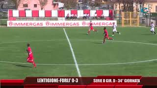 Serie D Girone D Lentigione-Forlì 0-3