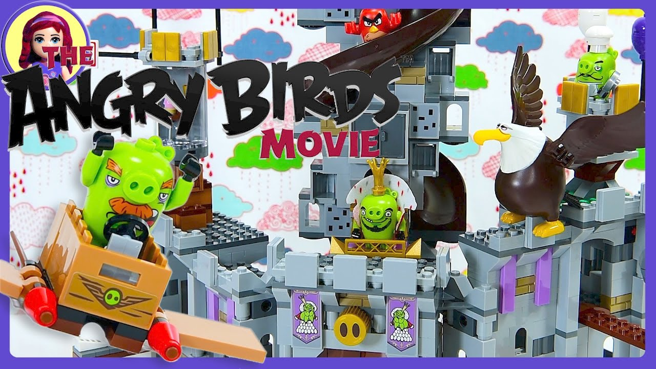 Lego Angry Birds Movie King Pigs Castle Build Review Silly Play