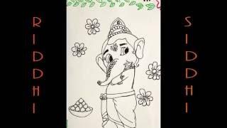 How to Draw Ganpati,Ganesha,Ganesh ji !! How to make Ganpati,Ganesha,Ganesh ji Drawing