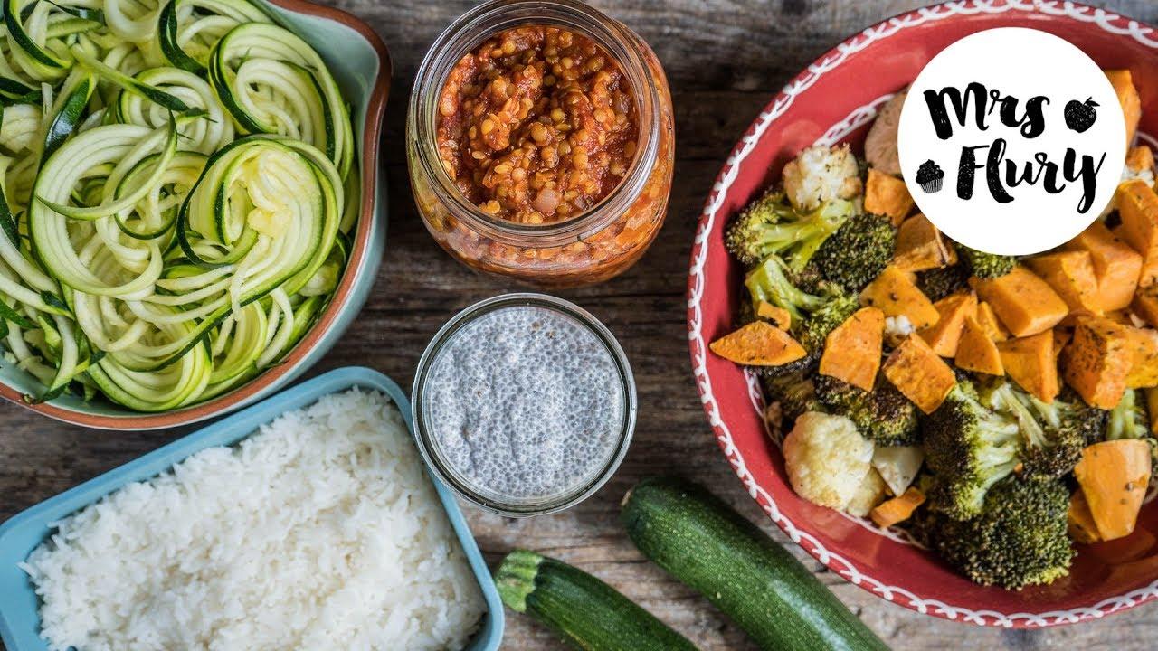 Meal Prep - 5 Zutaten für gesunde Gerichte - YouTube