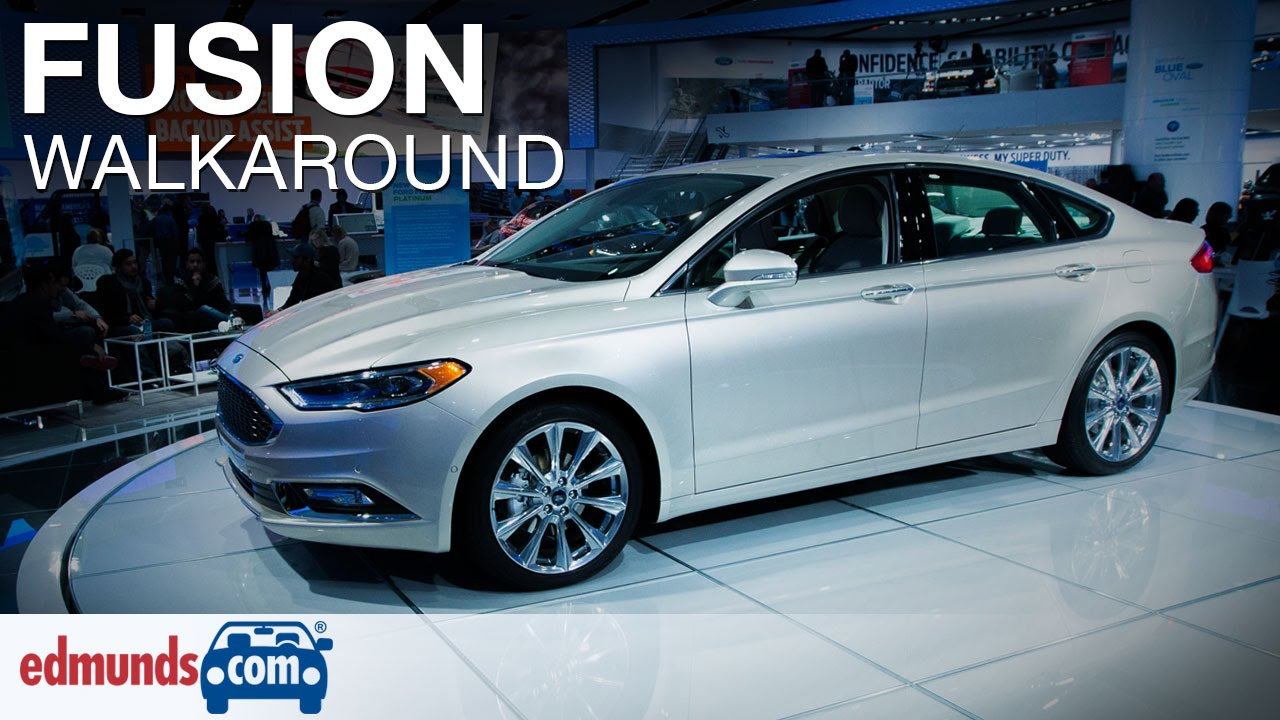 Brilliant 2017 Ford Fusion Walkaround Review  Detroit Auto Show