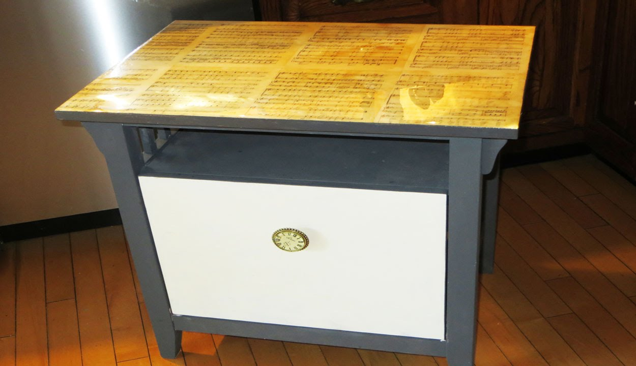 How To Decoupage Vintage Book Pages On