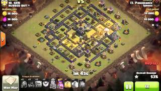 [Clash of Clans] | Stoned GoHog (Surgical) | TH9 | 3stars #028