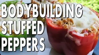 Bodybuilding Cutting Meal:  Ground Turkey Stuffed Peppers