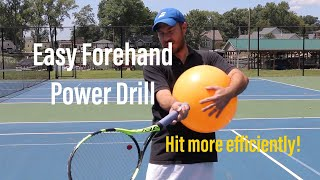 Easy Tennis Forehand Power Drill!