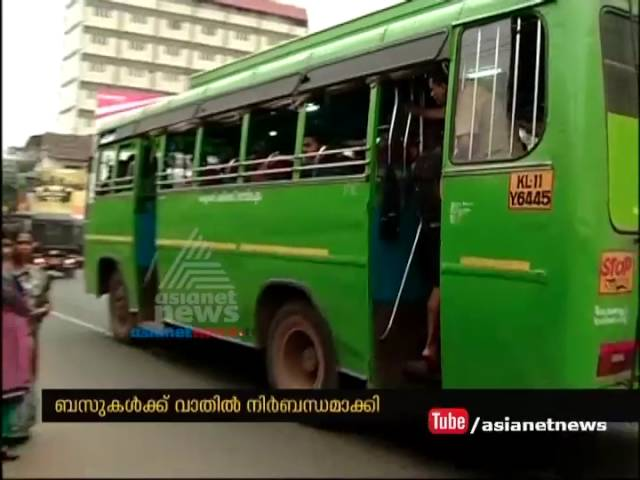 Transport Commissioner's new order to ensure all buses have doors