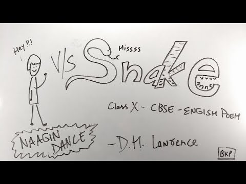 Snake - ep01 - BKP - CBSE Class 10 | English Poem | D H Lawrence | summary / explanation in hindi