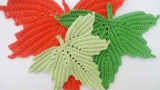 Кленовый лист Часть 3 The maple leaf Crochet Part 3