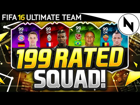 199 RATED TEAM?! - FIFA 16 ULTIMATE TEAM - HIGHEST RATED TEAM IN FIFA