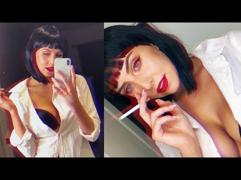 QUICK + EASY Halloween Makeup Look- Mia Wallace *Pulp Fiction* | amanda devon