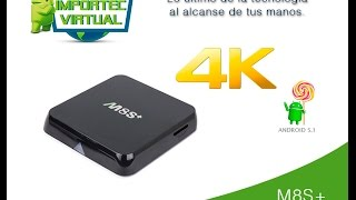Android Tv Box M8s+ Plus Android 5.1 lollipop Smarttv Gpu8core Ultrahd 3d Bluetooh 4k