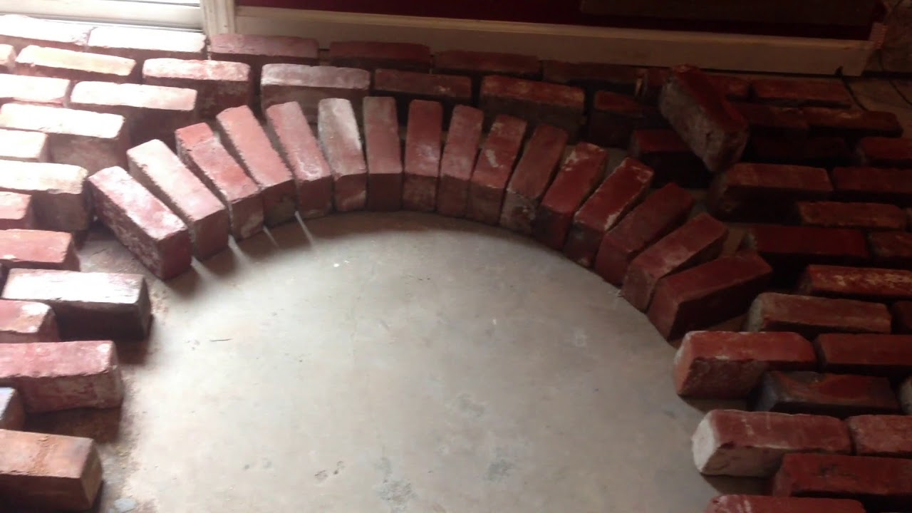 Building An Arched Brick Fireplace Facia Youtube