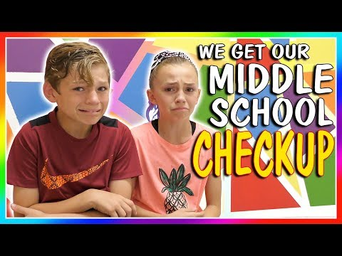 😱TIME FOR MIDDLE SCHOOL CHECKUP!😱  We Are The Davises