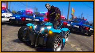 GTA 5 Roleplay - TROLLING 20 COPS ON CUSTOM QUAD BIKE | RedlineRP