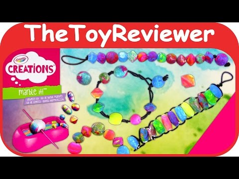 Crayola Creations Marbling It! Marble Jewelry Kit Unboxing Toy Review by TheToyReviewer