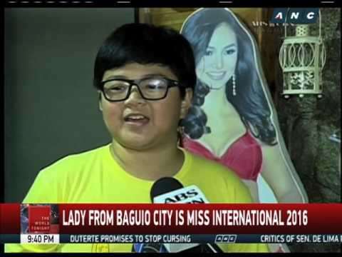 Warm welcome awaits Miss International Kyle Verzosa in Baguio City